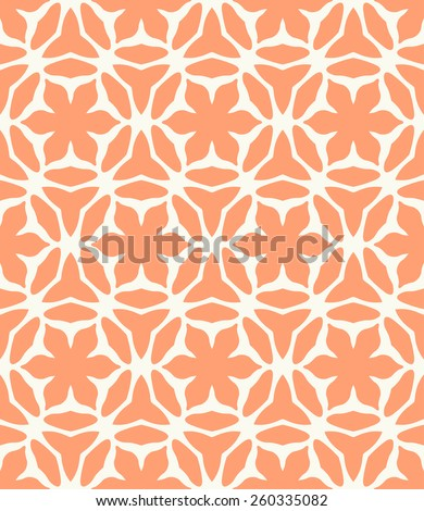 Vector seamless pattern. Stylish textile print with bright geometric design. - stock vector
