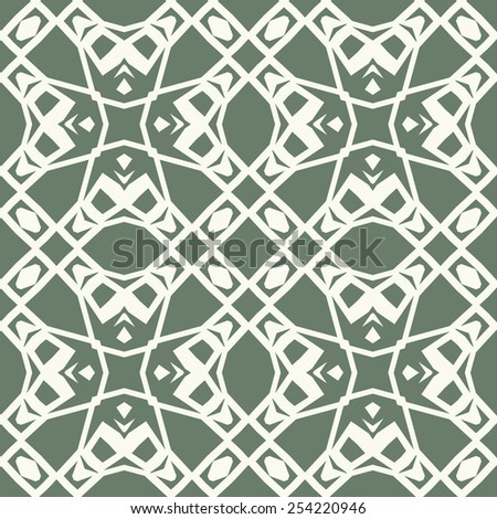 Vector seamless pattern. Stylish textile print with ethnic geometric design.