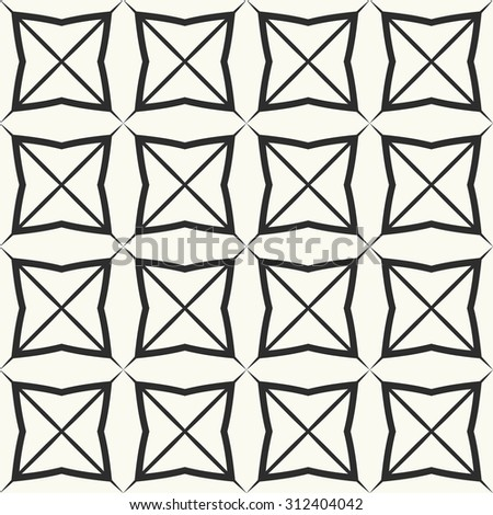 Vector seamless pattern. Stylish textile print with geometric ethnic design. Monochrome fabric background.
