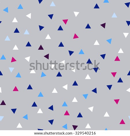 vector seamless pattern witch sketch triangles texture - stock vector