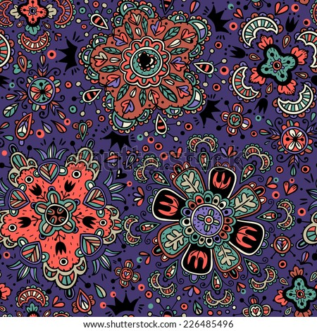 vector seamless pattern with abstract colorful elements