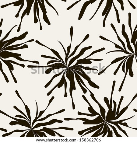 Vector seamless pattern with abstract spots. Stylish monochrome print. Repeating texture - stock vector