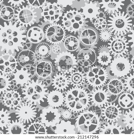 Vector seamless pattern with cogs and gears