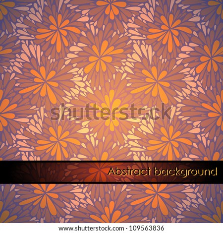 vector seamless pattern with colorful flowers - stock vector