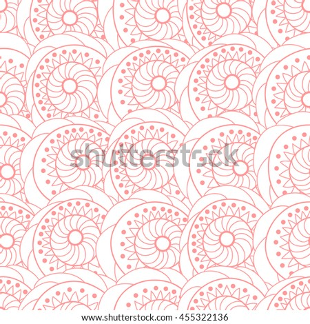 Vector seamless pattern with flowers .