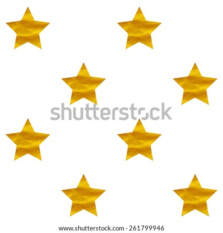 Vector seamless pattern with golden stars. Bright fashion texture. Golden shining background.