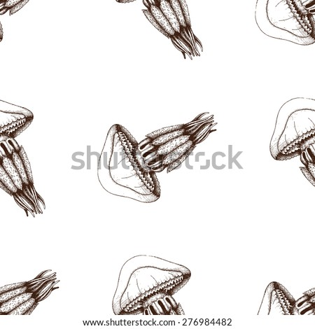 Jellyfish Tattoo Sketch Jellyfish Sketch Isolated