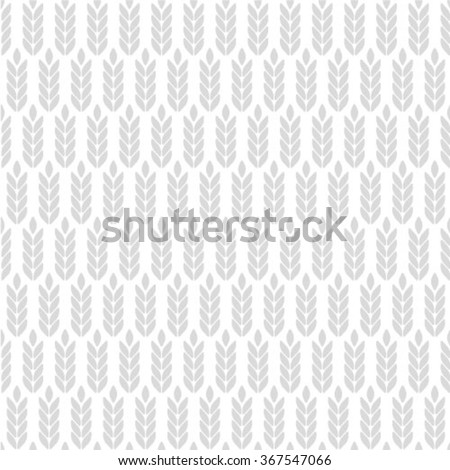 Vector seamless pattern with images of wheat ears - stock vector