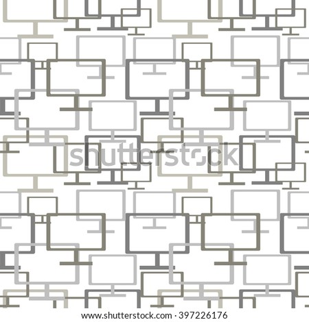 Vector seamless pattern with monitors. Series of Technology Backgrounds.