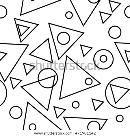 Vector seamless pattern with repeating circles. Regular hipster background. Minimalistic ornament