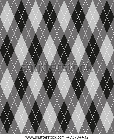 vector seamless pattern with rhombuses