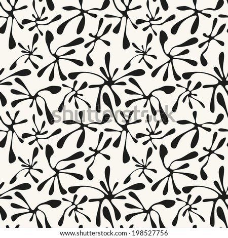 Vector seamless pattern with spots. Modern repeating texture. Fancy print with monochrome blotch - stock vector