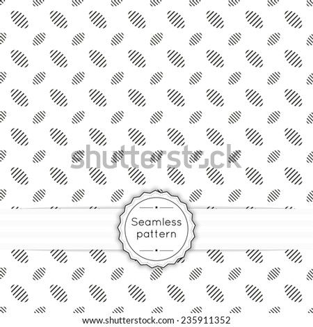 Vector seamless pattern with vintage old banner and ribbon. Repeating geometric shapes, ellipse - stock vector