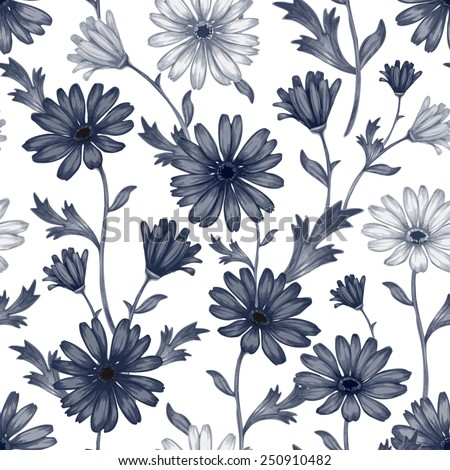 Vector seamless pattern with wildflowers. Background for for fabrics, textiles, paper, wallpaper, web pages, wedding invitations. Vintage style. Floral ornament. - stock vector