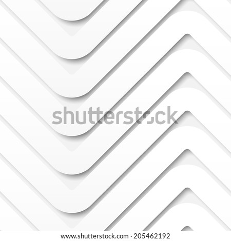 Vector seamless pattern. Zigzag volume background. Stylish texture with 3D effect - stock vector