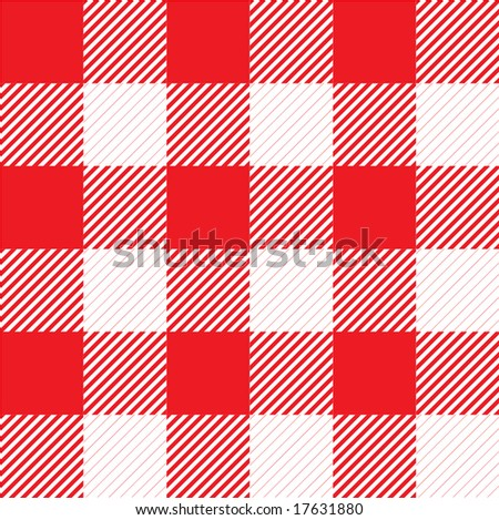 vector seamless red plaid tile pattern - stock vector