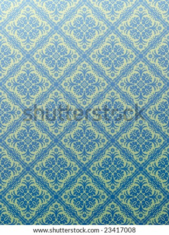 vector seamless repeating blue wallpaper - stock vector