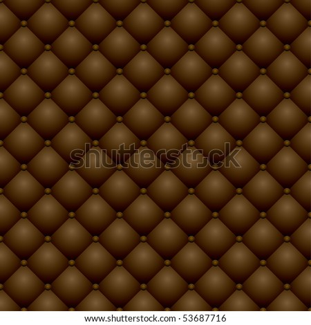 vector seamless repeating dark leather upholstery background - stock vector