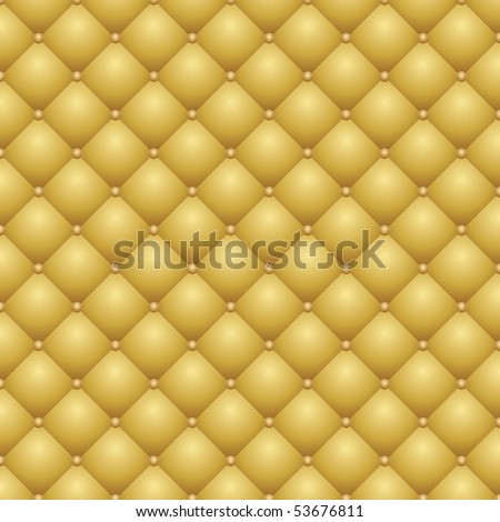 vector seamless repeating leather upholstery background - stock vector