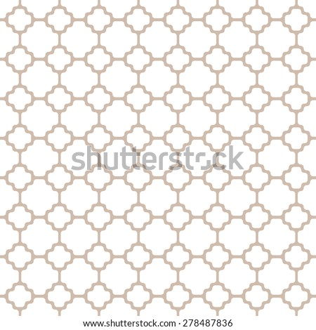 Vector seamless repeating texture pattern for stained glass, forged metal lattice, flooring, tile covering. - stock vector
