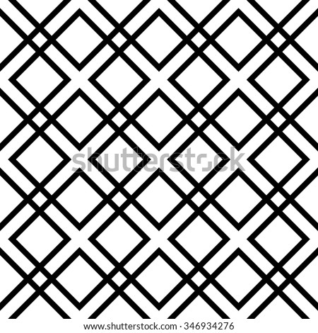 vector seamless rhombus pattern. endless texture black and white. abstract geometric ornament background. - stock vector