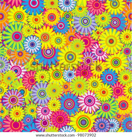 Vector seamless - spring flower pattern