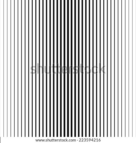 Vector Seamless Stripes Pattern . Abstract Black Vertical Striped Background . - stock vector