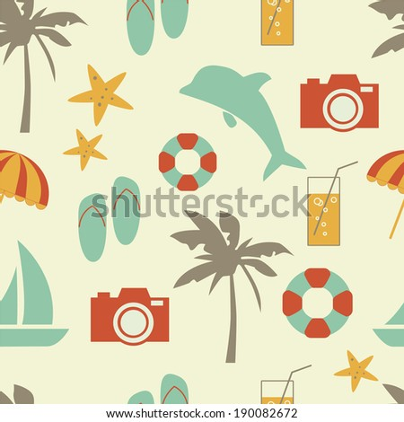 vector seamless summer pattern