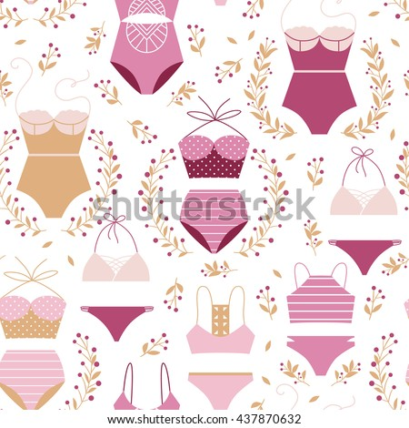 Vector seamless swimwear pattern