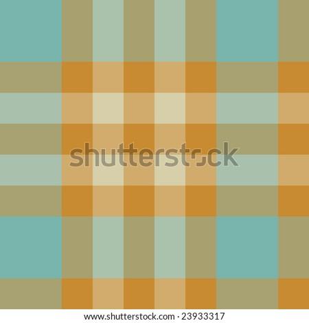 Vector seamless tartan pattern in retro colours - stock vector