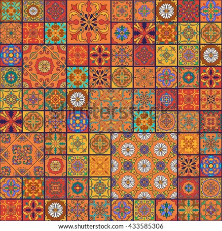 Spanish tile pattern stock images royalty free images for Decorative spanish tile