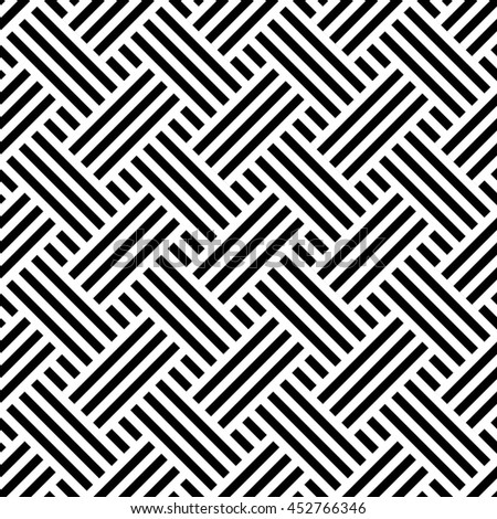 Vector seamless texture. Modern geometric background. Repeated monochrome pattern. Overlapping strips.