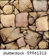 Vector seamless texture of stones in brown colors. - stock photo