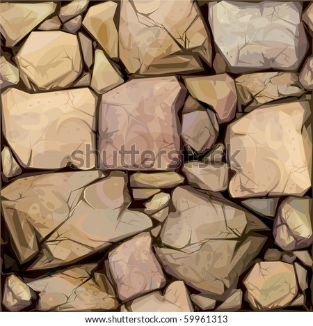 Vector seamless texture of stones in brown colors. - stock vector
