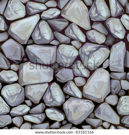Vector seamless texture of stones in grey colors.