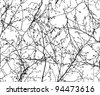 vector seamless texture of the branches on the white background - stock photo