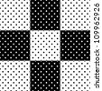 vector - Seamless Tiles, polka dot background design in black and white. EPS includes pattern swatch that will seamlessly fill any shape. - stock photo