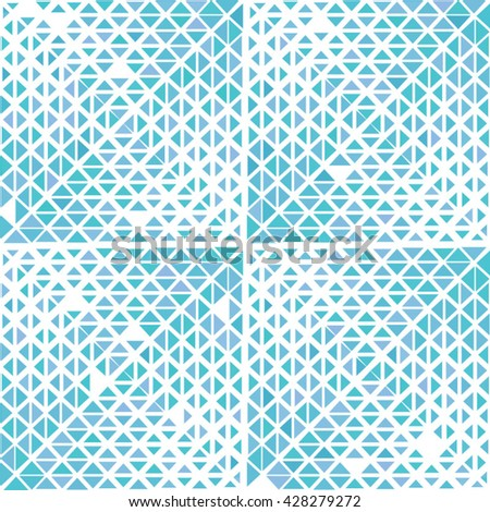 Vector seamless triangle pattern. Abstract geometric background