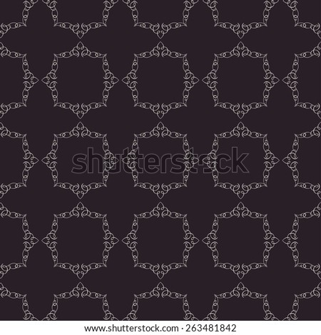 Vector seamless vintage background. Calligraphic ornament pattern texture wallpaper - stock vector