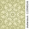 vector seamless vintage wallpaper pattern on gradient background, fully editable eps 8 file with clipping mask and pattern in swatch menu - stock vector