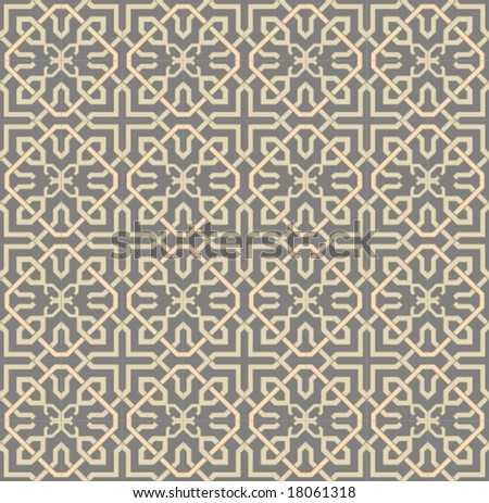 Vector: seamless wallpaper pattern. For the jpg-version, see my portfolio please (click on my name).