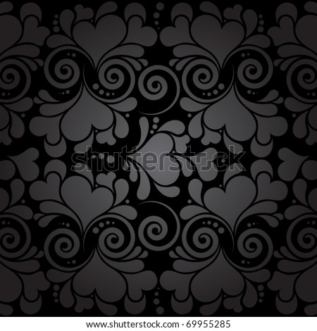 vector seamless wallpaper pattern with hearts - stock vector