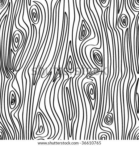 VECTOR Seamless wooden pattern. - stock vector
