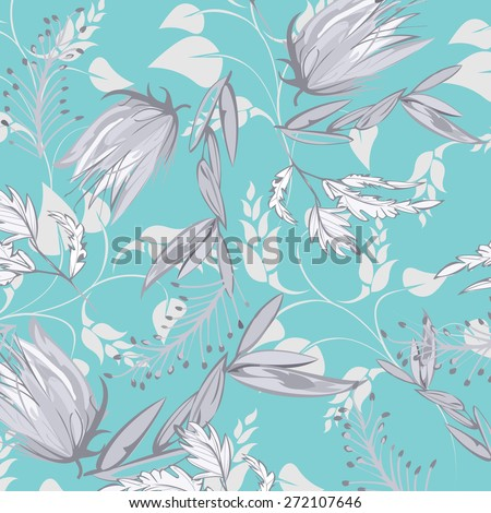 Vector Seamples Flower Retro Texture