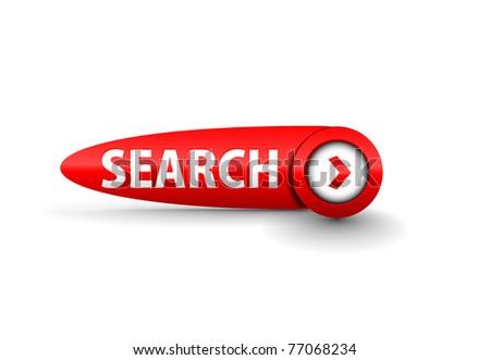 vector search button web design element. - stock vector