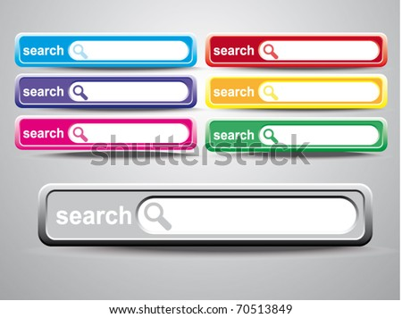 vector search form template with arrow cursor - stock vector