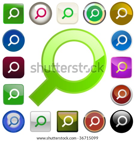 Vector search icons. Vector set. - stock vector