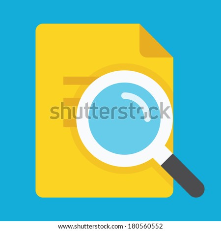 Vector Search the Document Icon - stock vector