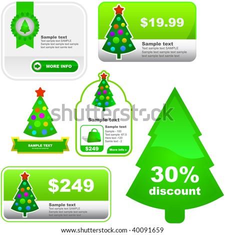 Vector seasonal design elements for advertising - stock vector