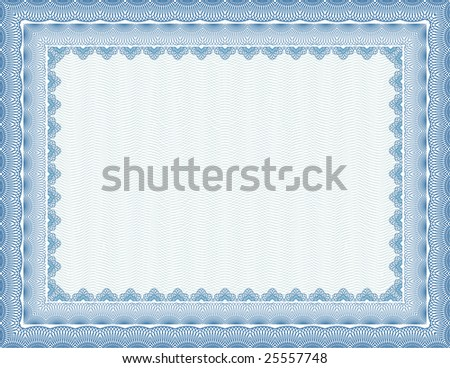 vector secure blank certificate - stock vector